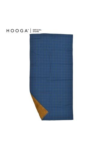 HOOGA brown and blue Hooga Bath Towel Larkyn. 3B227HL3AA082EGS_1