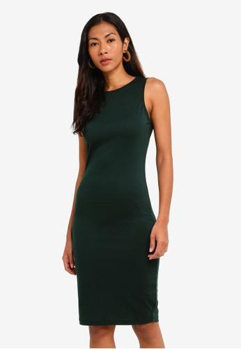 ZALORA BASICS green Basic Sleeveless Tank Dress 43D04AA8F64E6FGS_1