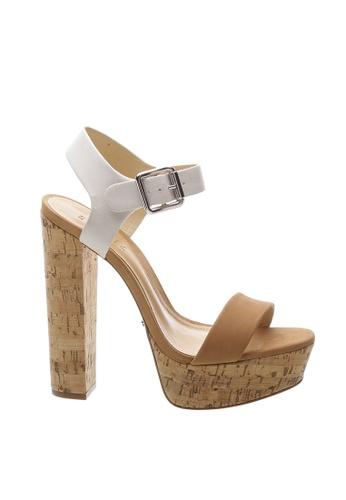 SCHUTZ 米褐色 SCHUTZ 厚底搭帶高跟涼鞋 - JUDITH (白色/皮膚色) 43054SH364DCC4GS_1