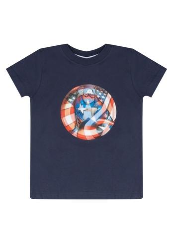 FOX Kids & Baby navy Baby Boy Lenticular Marvel Tee 7EAA0KAAA0FD40GS_1