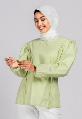 TUNIQUE green Tunique - Rachel Blouse AAD08AA44043C5GS_1