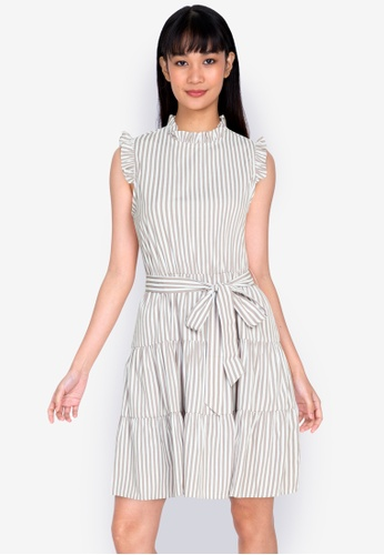 ZALORA BASICS multi Ruffle Detail Tiered Dress A4E16AAAA13877GS_1