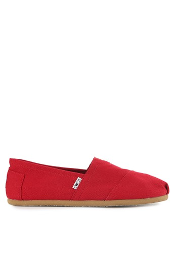 TOMS red Mf Red Kanvas Mn Clsc Alprg TO159SH0VUXFID_1