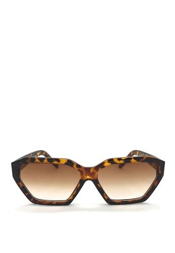 Kaca-kaca brown Kaca Kaca Luna Leopard Sunglasses 4F740GL2D5F01BGS_1