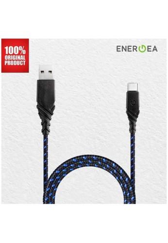 Energea blue Kabel Data USB-A to USB-C 1.5m - Duraglitz - Energea - Blue 69B97ES4473171GS_1