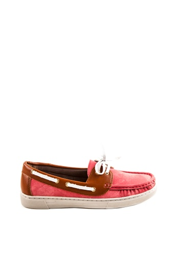 Otto red Lace up Boat Shoes OT407SH70VGFPH_1
