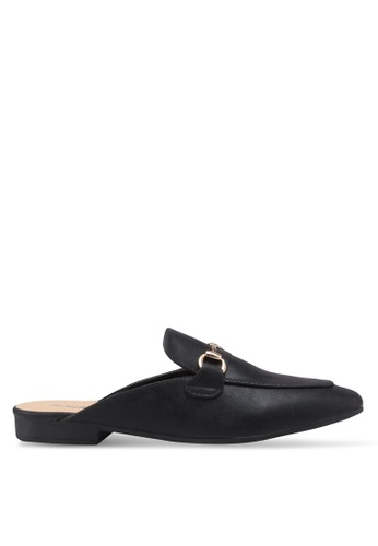 Something Borrowed black Buckled Slip On Flats D2A32SHCDA6A1CGS_1