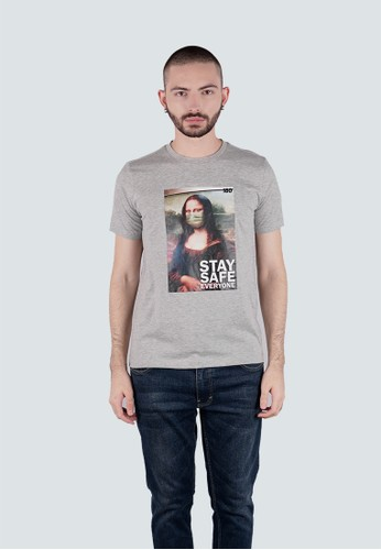 180 Degrees grey KAOS ANTI VIRUS, DIGITAL PRINT, SOCIAL DISTANCING, MONALISA Kaos Pria C9E4BAAF4DE908GS_1