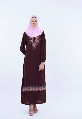 Ladies Jeans brown Jubah With Crystal Embroidery 614F9AA77A4C10GS_1