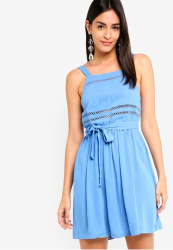 ZALORA blue Trim Dress BBEB9AA72524CDGS_1