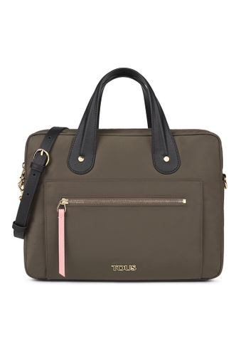Tous brown TOUS Khaki Shelby Briefcase 9EC91AC4A3D4CCGS_1
