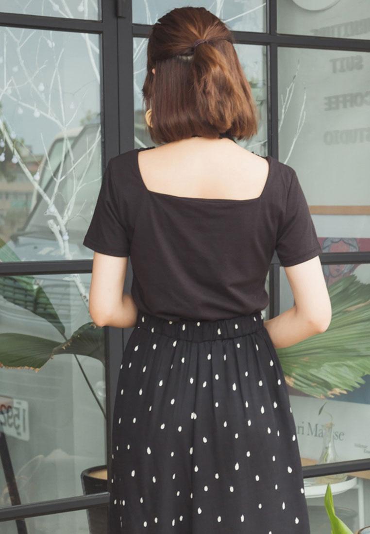 Neck Tie Black Tokichoi with Lace Blouse Square 5wqXB0