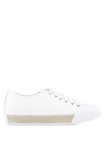 Something Borrowed white Rope Contrast Sneakers ED29CSHB68A7DAGS_1