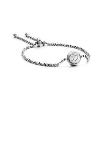 Glamorousky white Fashion and Simple Twelve Constellation Libra 316L Stainless Steel Bracelet with Cubic Zirconia 41219AC87407CFGS_1