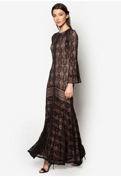 Lace Pieced Mermaid Dress
