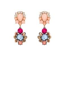 Faux Stone Studded Drop Earring