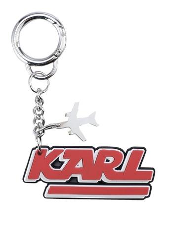 KARL LAGERFELD red K/Jet Karl Keychain KA533AC60XDVMY_1