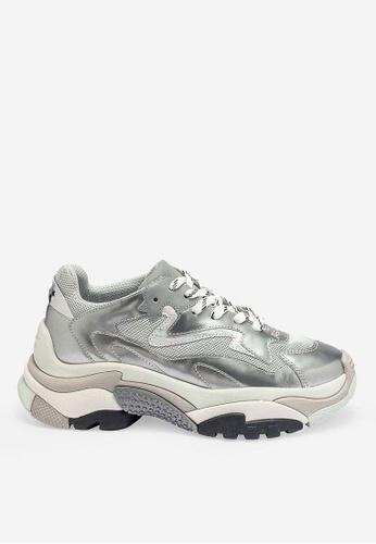 ASH silver Addict - Silver Mesh weaving High-Top Sneakers F1DD7SH5659F5CGS_1