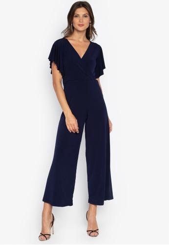c4046edba3b Shop Ashley Collection V-Overlap Ruffle Sleeve Jumpsuit Online on ZALORA  Philippines