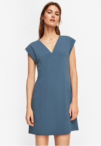 Mango blue Crisscross Strap Dress D4428AA6977A39GS_1