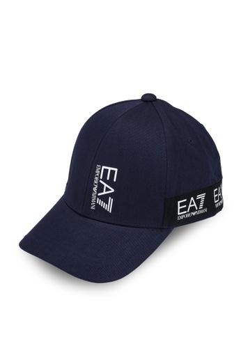 EA7 navy Train Logo Tape Cap F27F1AC394EEC2GS_1