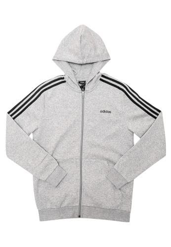 ADIDAS grey adidas youth boys essentials 3 stripes full zip h 5785BKA290A4F5GS_1