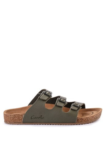 CARVIL green and multi Carvil Sandal Casual Men Falkland-03 M Olive 7DC91SHC0CEC40GS_1