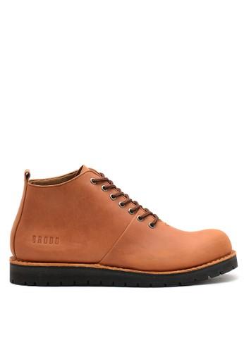 Brodo brown BRODO - Sepatu Pria Boots Vintage Brown BS 68C88SH33FD433GS_1
