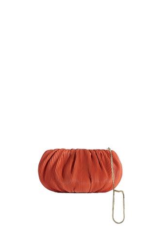 LINGWU orange LINGWU Bubble Mini Corrugated Orange Clutch 049D1AC826C232GS_1