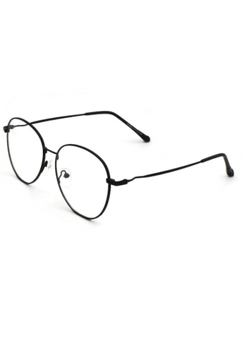 Dandelion black Retro Oval Crooked Side Blue Light Filtered Glasses 0F7F5GL7E7EA68GS_1