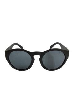 Selma Mirrored Sunglasses in Matte Black