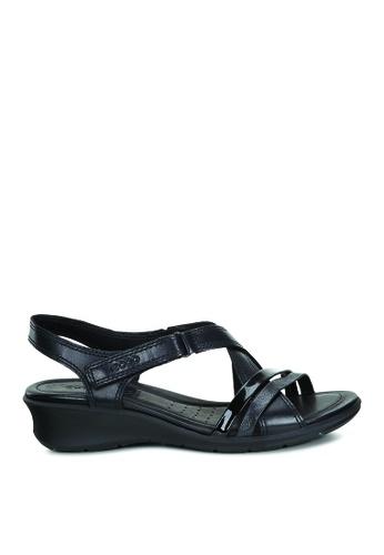 45c97164a0d0 Buy ECCO Felicia Sandal Black Black Fea For Softy Online on ZALORA ...