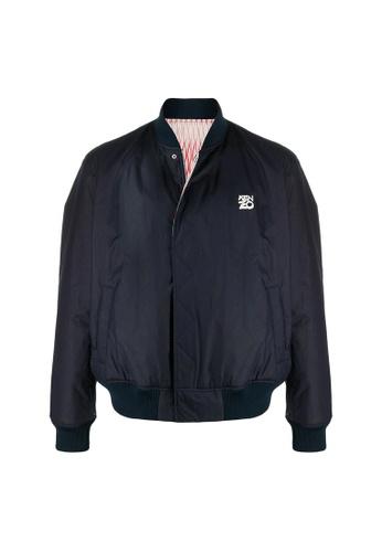"""Kenzo blue Kenzo """"Fishnet"""" Reversible Jacket in Midnight Blue 3F170AAF871E8EGS_1"""