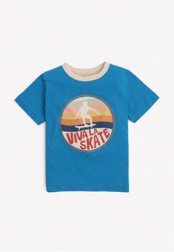 Gingersnaps blue Boys Skate T-Shirt 153E3KA6394CF3GS_1