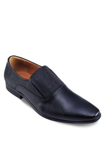 暗紋拼接尖頭皮鞋zalora 包包 ptt, 鞋, 鞋