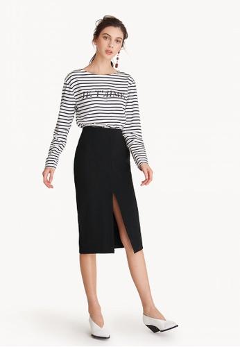 464fe15495 Shop Pomelo Center Slit Pencil Skirt Online on ZALORA Philippines