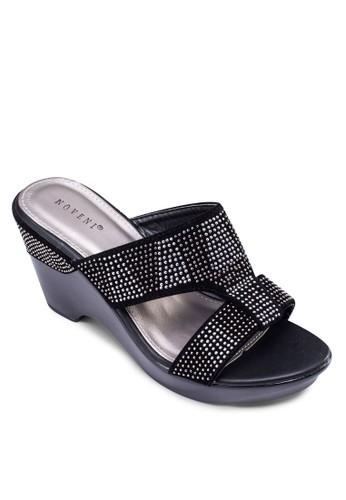 Glittesprit 包erati 閃飾楔形涼鞋, 女鞋, 楔形鞋