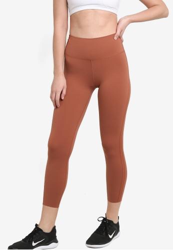 Nike brown Luxe 7 Training Leggings 524ABAAFF69045GS_1