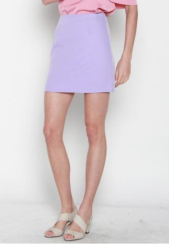 JOVET purple Mini Skirt 546D3AA7FAE944GS_1