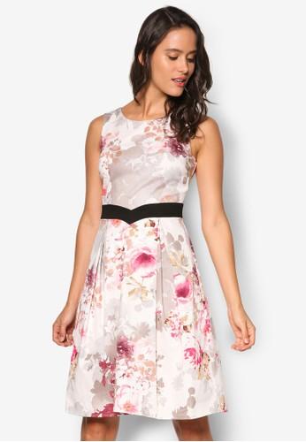 *Luxezalora 衣服評價: 花卉印花褶飾洋裝, 服飾, 洋裝