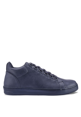 Topman navy Navy Saint Hiker Sports Boots 3479BSHA49B665GS_1