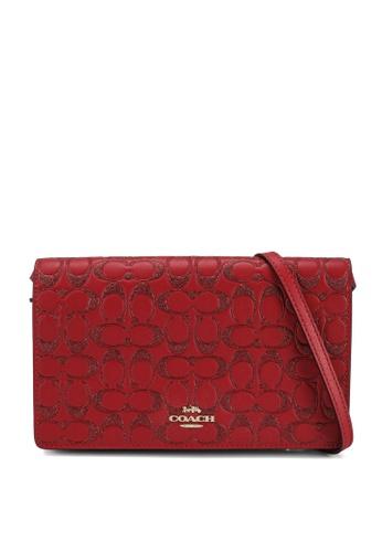 Coach red Foldover Clutch Crossbody Bag 4A867AC07EA72EGS_1