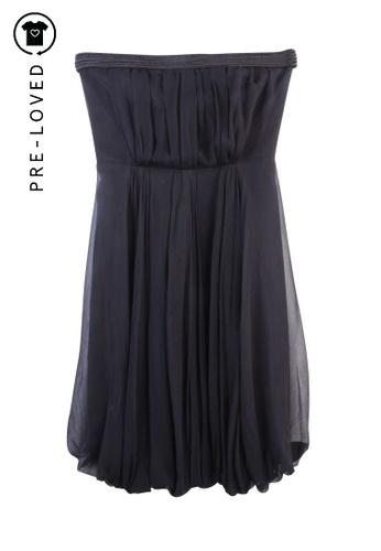 Max Mara black Pre-Loved max mara Silk Strapless Dress 6CBF9AA551D85EGS_1