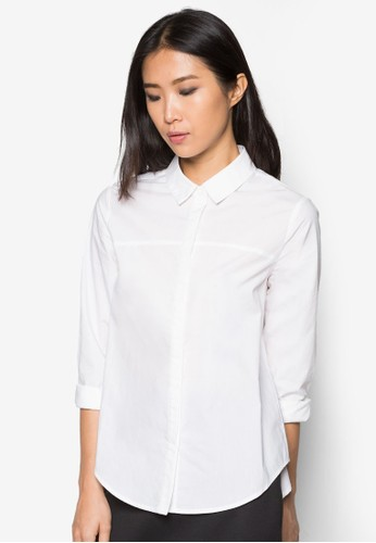 寬身長袖襯衫, 服飾, 上zalora 台灣衣