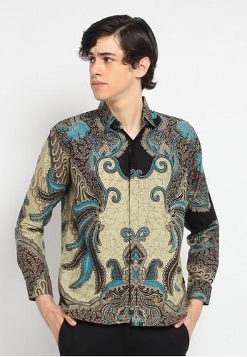 ABIROY beige Jalaran Kemeja Batik Pria Modern Lengan Panjang DB2DEAABC13043GS_1