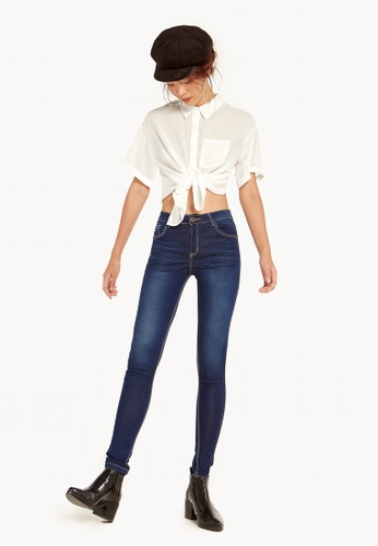 Pomelo navy Ginnie High Waisted Skinny Jeans 915D9AA1BBD8C7GS_1