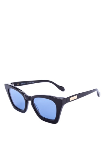 Sonix black and blue Ginza Sunglasses   C6299GLB2D74DCGS_1