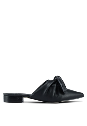 MISSGUIDED black Knot Form Mule Heels CE935SH63B9273GS_1