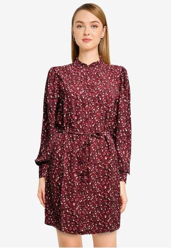 JACQUELINE DE YONG purple Milo Frill Shirt Dress 2451DAA6BECF9EGS_1