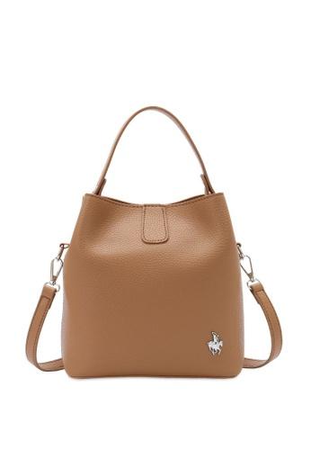 Swiss Polo brown Top Handle Sling Bag 01DAEAC0058F5CGS_1